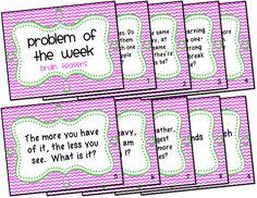 Problem of the Week Freebie