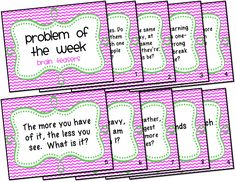 Problem of the Week Freebie - Ms. Third Grade
