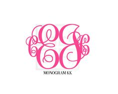 4 Initial Monogram 4 Letter Monogram by HeatherLeeMonograms Preppy Monogram, Vine Monogram, Anchor Monogram