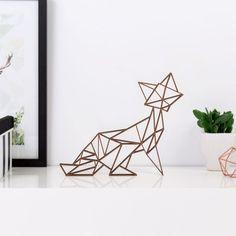 Origami Fuchs aus Holz in vielen verschiedenen Farben erhältlich.