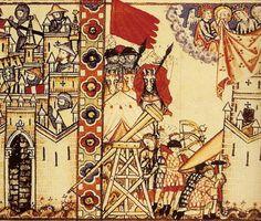 Manuscript Escorial MS T.I.1 Les Cantiques de Sainte Marie Folio 28 Dating 1284 From Spain (exact location unknown) Holding Institution El Escorial Royal Library