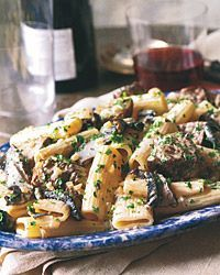 OMG - this sounds scrumptious!Rigatoni with Sirloin and Gorgonzola Sauce Recipe from Food & Wine