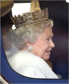 The earrings were inherited by the Queen on Queen Mary's death in 1953. She wears them for occasions like the State Opening of Parliament, the Garter Day ceremony, and other formal events.