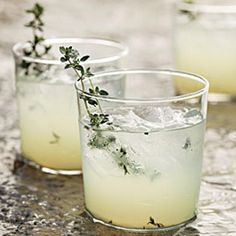 Limoncello-Gin Cocktail With Grilled Thyme Recipe with 4 ingredients Recommended by 1 users.