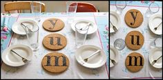 Custom Cork Trivets - use a wood burner on cork. can also customize other cork things.