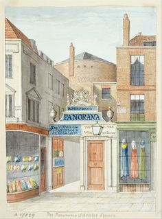 this drawingwatercolour by unknown artist of the panorama leicester square in
