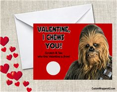 Star Wars Chewbacca Valentine's day card