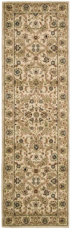 """Kathy Ireland Home Lumiere Royal Countryside Beige 2'3"""" x 7'9"""" Runner Rug"""