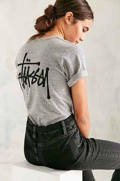 T-shirt chiné Basic Stock Stussy 39$