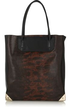 Alexander WangPrisma lizard-effect leather tote