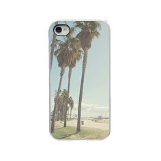 California Iphone case - Iphone 4 4s and 5 case - palm trees... ($20) ❤ liked on Polyvore