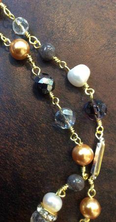 Crystal Salt Shaker Necklace by AnitaBloomDesigns2 on Etsy