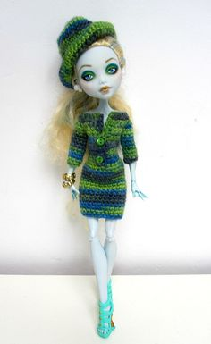 Monster High Knitted Dress and Hat by erregiro on Etsy