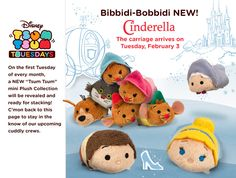 By now I'm sure everyone already know that these Cinderella and friends tsum tsum will be coming to the Disney Store in the USA in Feb~