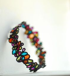 Cool bracelet,  looks like stained glass.