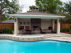 Waterline Pools - Outdoor Rooms Photos - Swimming Pool & Spa Construction, Pool Contractor, Pool Builder, Dallas Texas.