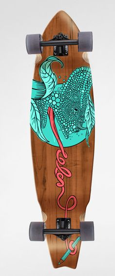 Longboards / customs by luiza kwiatkowska, via Behance (gives me an idea for a sign I'm painting, like the wood showing through)