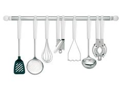 Find kitchen utensils for all your food prep here. Shop mixing bowls, kitchen scales, tongs & more. Buy online for fast shipping & our price beat guarantee. Cooking Utensils, Kitchen Utensils, Kitchen Tools, Stainless Steel Tubing, Hanging Racks, Mixing Bowls, Pyrex, Home Renovation, Hanger