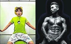 And the elevator guy is becoming just to this sexy sixpack hot guy! 1 month body transformation, 15kgs reduced #nohhongchul #muhandojeon Noh Hong Chul #infinitychallenge #korea