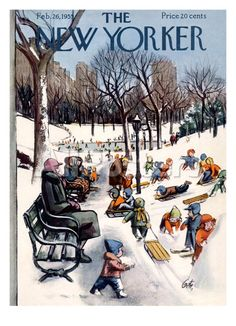 The New Yorker Cover - February 26, 1955 Reproduction procédé giclée par Arthur Getz sur AllPosters.fr