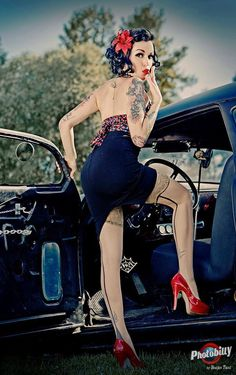´´Thursday Stocking Peak´´ Mystyc Cat - Tattooed Pinup Model and Big Lover of Rockabilly style from Budapest,HUNGARY living in GERMANY Photo by Bostjan Tacol - Photobilly — with Grecco Flores, Marco Pineda, alexadra giorgos papanikolau, Jasmine Borg, Criss Cortes, Mystyc Cat, marcopineda, alexadra giorgos pap and Anish R Nair.