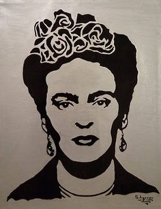 Frida Kahlo Art Impronte Vintage Grunge Abstract Fine A4 A3 A2 Muro