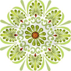 Green Mandala Mousepad on CafePress.com