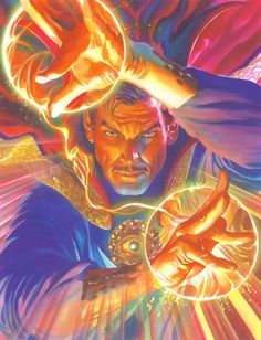 Alex Ross SIGNED Marvelocity Doctor Strange Giclee on Canvas Limited Edition of 100
