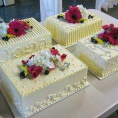 Glamorous Wedding Sheet Cake Decorating Ideas 75 For Table Numbers For Wedding with Wedding Sheet Cake Decorating Ideas Pretty Cakes, Beautiful Cakes, Amazing Cakes, Pastel Rectangular, Sheet Cakes Decorated, Wedding Sheet Cakes, Sheet Cake Designs, Rectangle Cake, Decoration Patisserie