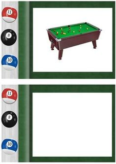 Snooker table A5 Insert on Craftsuprint - Add To Basket!