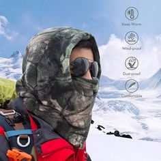 Your Choice Balaclava Face Mask Thick Thermal Fleece Hunting Face Mask, Windproof Camo Neck Warmer for Cold Weather Outdoor Activities Gear Gifts For Boss, Gifts For Teens, Gifts For Husband, Duck Hunting Gear, Hunting Gifts, Outdoor Gifts, Gifts For Hunters, Fishing Accessories, Grandpa Gifts