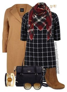 """""""Plus Size - Mixed Plaid"""" by alexawebb ❤ liked on Polyvore featuring Via Spiga, Kate Spade, Coach, Michael Kors, outfit, plussize, plussizefashion, alexawebb and PolyvorePlus"""