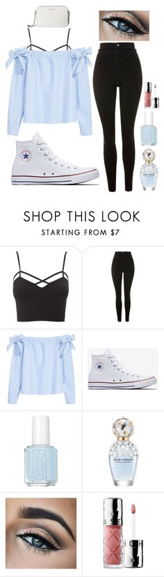 """i've been gone for a while..."" by arianamichellemedley on Polyvore featuring Charlotte Russe, Topshop, H&M, Converse, Essie, Marc Jacobs, Sephora Collection, MICHAEL Michael Kors and plus size clothing"