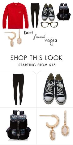 """""""Kayla Set"""" by mintmadness4lyfe ❤ liked on Polyvore featuring Vineyard Vines, Dorothy Perkins, Converse, Wild Pair, Ray-Ban and Kendra Scott"""