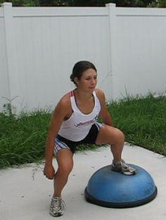 Bosu Squat- One Leg on Floor.  I am working this into my BOSU leg routine