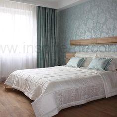 Hedvábné závěsy do ložnice, silk James Hare curtains for the bedroom in light blue design