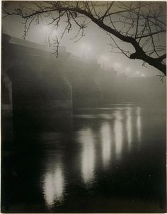 Gyula Halasz (Brassai)  Misty bridge, Paris 1933