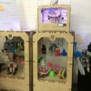Some of Makerbot's finished products