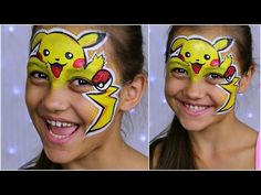 """Pokemon GO """"Pikachu"""" — Makeup for Kids & Face Painting Tutorial - YouTube"""