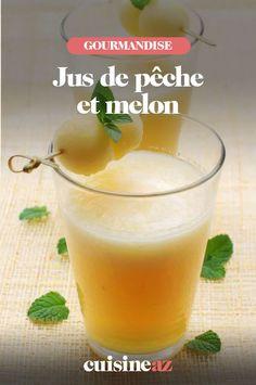 Le jus de pêche et melon est une boisson aux fruits à servir lors d'un brunch par exemple. #recette#cuisine #jus #fruit #jusdefruit #peche #melon