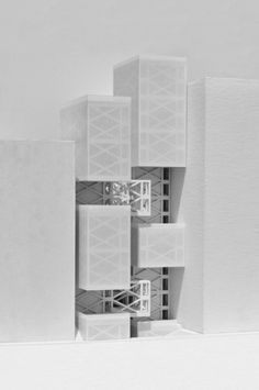 Vertical Streetscape Physical Model by db@vt