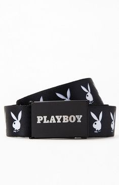 Size Medium Great Retro Playboy Rainbow Swirl Bunny Buckle Design White Belt