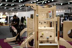 Cedarworks playstructure's were a big hit amongst mini-modernista's. Photo: Alejandro Chavetta #dwellondesign @dod2012