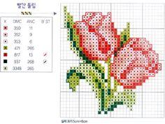 Cross Stitch: Rose vzor v 9 080127110343178861653071 Květiny