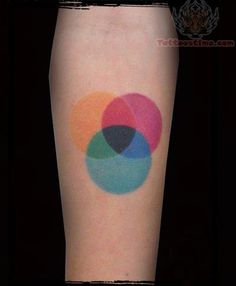 Colored Circle Tattoos