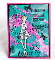 Designs by Lisa Somerville: Bloggers Challenge - Emboss Me. Mixed Media card using the Gelli Arts Plate