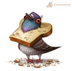 2015 avian bird bread canine crumbs cryptidcreations dog doing_it_wrong feathers feral flour food inbread mammal pigeon piperthibodeau red_eyes simple_background solo watermark what white_background wolf Bird Drawings, Cartoon Drawings, Cute Drawings, Animal Drawings, Character Illustration, Illustration Art, Illustrations, Animal Sketches, Art Sketches