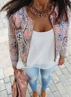 2015 spring autumn women jacket short paragraph vintage printed jackets women fashion simple zipper casaco feminino coat-in Basic Jackets from Women's Clothing & Accessories on Aliexpress.com | Alibaba Group