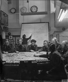 """"""" British plotting room, Women were an integral part of the British war effort, serving in significant numbers with the RAF as Women's Auxilliary Air Force in radar operations. Women served with the RCAF as well, but as Canada. European History, Women In History, British History, Divas, Between Two Worlds, The Blitz, Battle Of Britain, Historical Images, Life Magazine"""