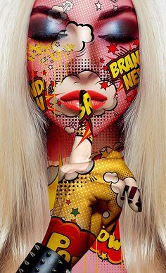 24 Ideas for pop art comic face Fantasy Kunst, Fantasy Art, Portfolio D'art, Desenho New School, Dope Kunst, Arte Dope, Tableau Pop Art, Comic Face, Art Visage